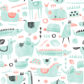 coral mint animal party 2