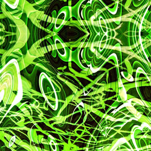 Scribble Attack in green