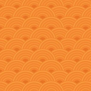 Record Collection in Warm Orange