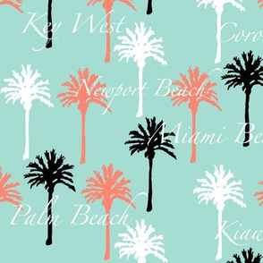 Palm Trees with Beach Cities Script