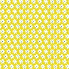Daisy Chain Floral Citron Yellow