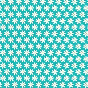 Daisy Chain Floral Aqua