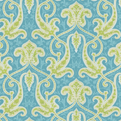 Avignon Indienne in Citron and Aqua