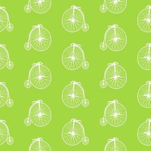 Old Bicycles Bright Green