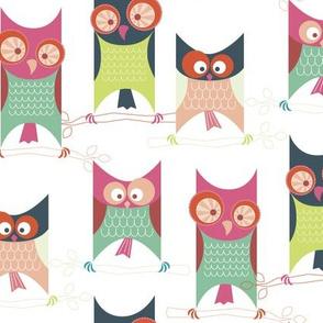 Retro Cube Owls