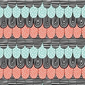 Scallop_design_Black__White__Coral_and_Mint