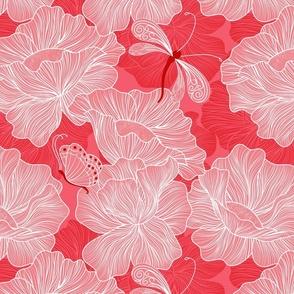 Floral in Scarlet
