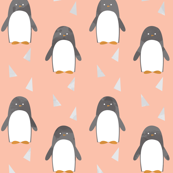 Ice Cold Penguins - Peach - Large Scale