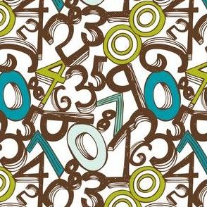 Numero Uno - Number Typography - Blue