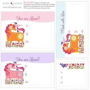 Quilt Fabric Labels_HappyUnicorn