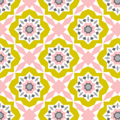 Mattonelle Delight Geometric - Pink & yellow