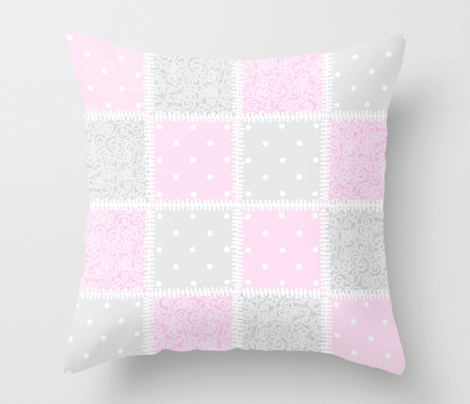 Baby Pink swirly patchwork
