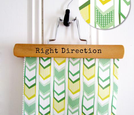 Right Direction Chevron - Green & Yellow