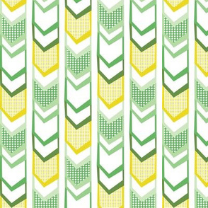 Right Direction Chevron - Green & Yellow