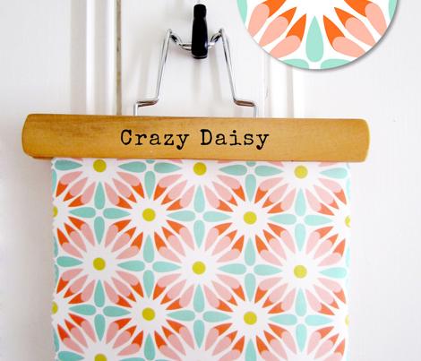 Crazy Daisy Retro Floral Geometric