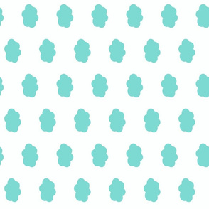 teal cloud - candy green
