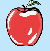 Crispy_Red_Apple_on_Sky_Blue