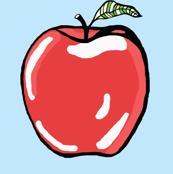 Crispy_Red_Apple_on_Sky_Blue