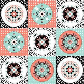 coral_mint_white_checker_board_4h