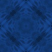 feather kaleidoscope - blue