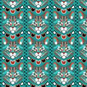 Cubist Cat (Blue)