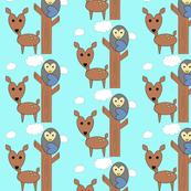 deer & owl