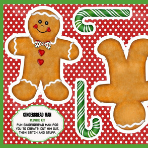 Gingerbread Man Plushie Kit