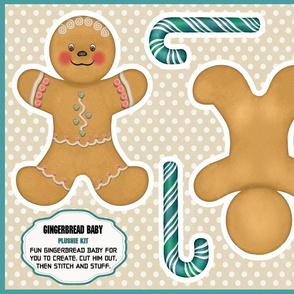 Gingerbread Baby Plushie Kit
