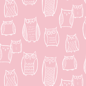 """Little"" Night Owl Pink/White"