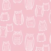 """Little"" Night Owl Pink/White"