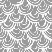 monochrome scallop scales small