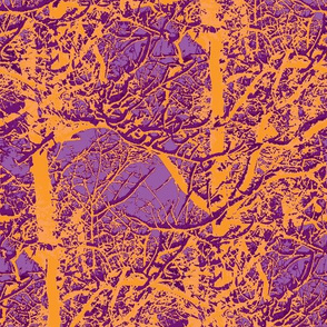 Trees in orange and purple