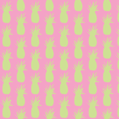 Pineapples - Pink and Lime Green