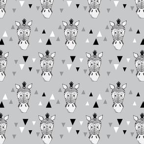 Zebra Head - grey