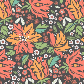 Tropical Night Blooms_Multi color