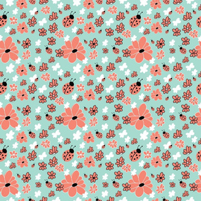 Ladybug Flowers