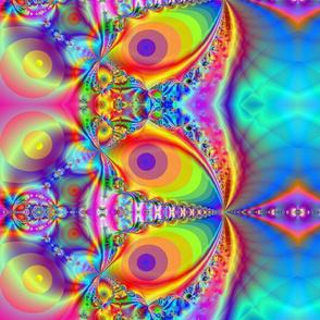 hypnotic rainbow fractal
