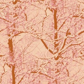 Rust and Peach Trees
