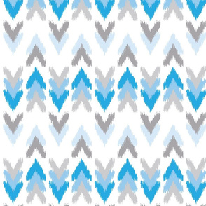 Blue Gray Ikat Arrows