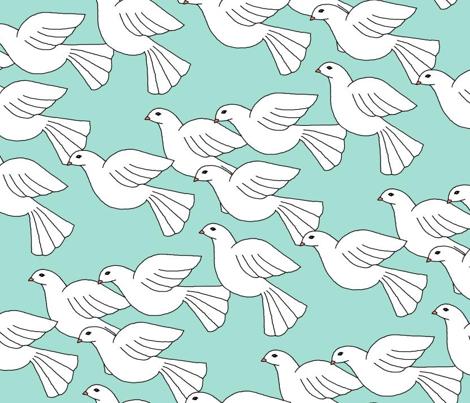 Doves soaring