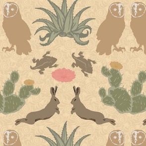 desert damask  dusty gold