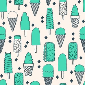 Ice Cream Varieties - Light Jade/Champagne by Andrea Lauren (Smaller version)