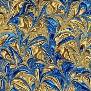 Metallic-OceanBlueGold-Swirl