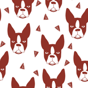Boston Terrier - Red Oxide (Smaller Version) by Andrea Lauren