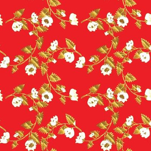 Red and Gold Chinoiserie Vines