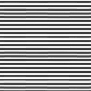 Charcoal Gray Thin Stripe