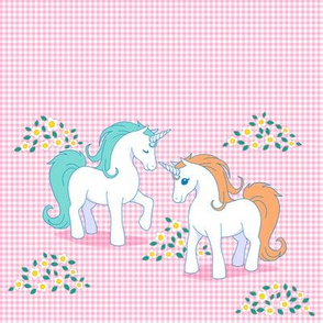 My Little Unicorn on pink Gingham