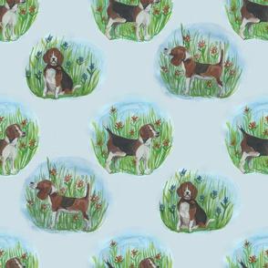 Watercolour Beagle Tile