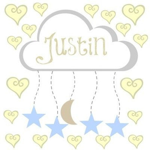 star moon heart mobile -sky putty personalized