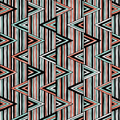 Hand drawn geomeric print